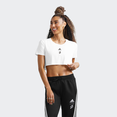 Women's Training White adidas x Peloton Crop Tee