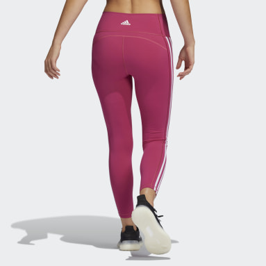 Women Yoga Pink Believe This 2.0 3-Stripes 7/8 Tights