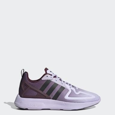Women Originals Purple ZX 2K Flux Shoes