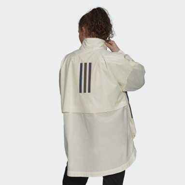 Giacca MYSHELTER Parley WIND.RDY Anorak Bianco Donna City Outdoor