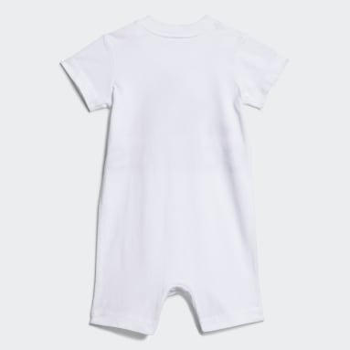 Infant & Toddler Training White Shortie Cotton Romper