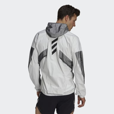 Men TERREX White Terrex Agravic Pro Trail Running Rain Jacket