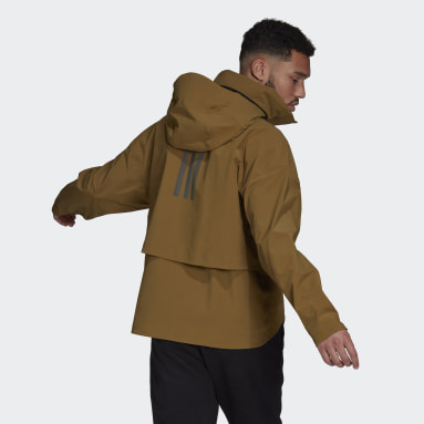 Men City Outdoor Brown MYSHELTER Rain Jacket
