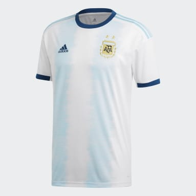 Men Football White Argentina Home Jersey