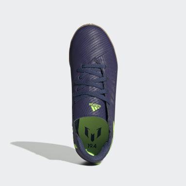 Boys Futsal Blå Nemeziz Messi 19.4 Indoor støvler
