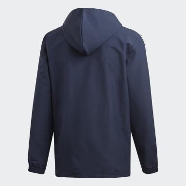 Men's Essentials Blue Essentials 3-Stripes Woven Windbreaker