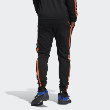 Men Basketball Black Harden Fleece Pants