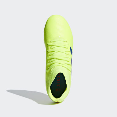Kids Football Yellow Nemeziz 18.3 Firm Ground Boots