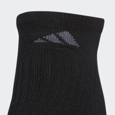 Women's Baseball Black Cushioned No-Show Socks 3 Pairs