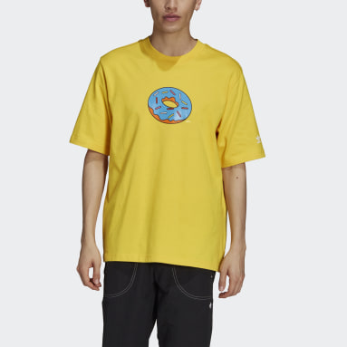 Heren Originals Geel The Simpsons Donut T-shirt