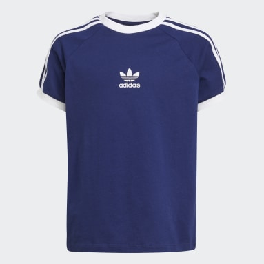 Youth 8-16 Years Originals Blue 3-Stripes T-Shirt