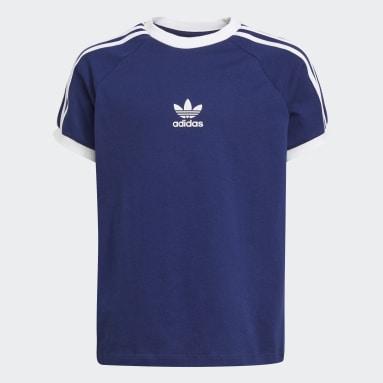 T-shirt 3-Stripes Azul Criança Originals