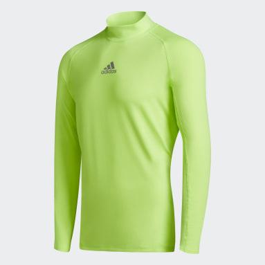 Remera Alphaskin Sport Climawarm Verde Hombre Fútbol