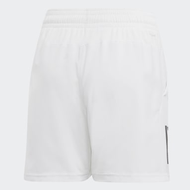 Shorts Club 3 bandas Blanco Niño Tenis