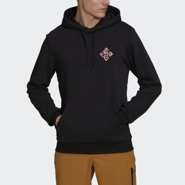 Men Five Ten Black Five Ten Graphic Hoodie