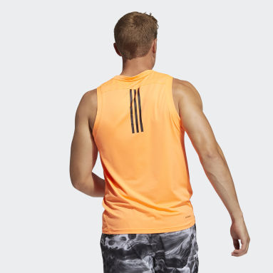 Men's Yoga Orange AEROREADY 3-Stripes Primeblue Tank Top