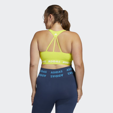 Women Gym & Training Yellow Training Aeroknit Bra (Plus Size)