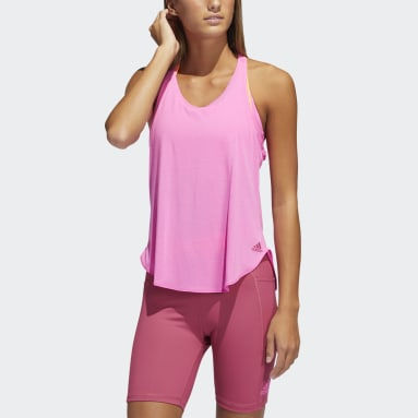 Women Gym & Training Pink Go To 2.0 Tank Top
