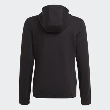 Meisjes Sportswear Zwart adidas Essentials 3-Stripes Ritshoodie
