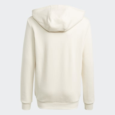 Hoodie Graphic Non-Dye Organic Cotton Bianco Bambini Originals