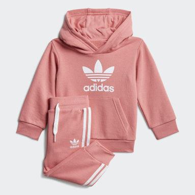 Børn Originals Pink Trefoil hoodiesæt