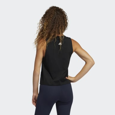 Women Sportswear Black Graphic Tank Top