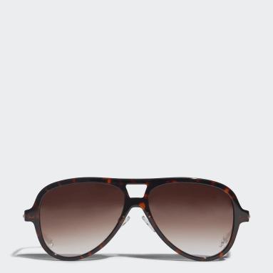 коричневый Очки солнцезащитные AOK001