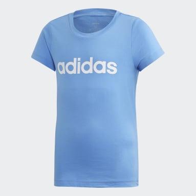 Girls Sportswear Blue Essentials Linear Tee