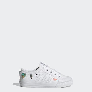 Kids Originals White Nizza Shoes