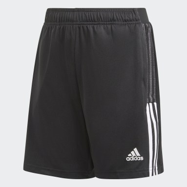 Kids Football Black Tiro 21 Training Shorts