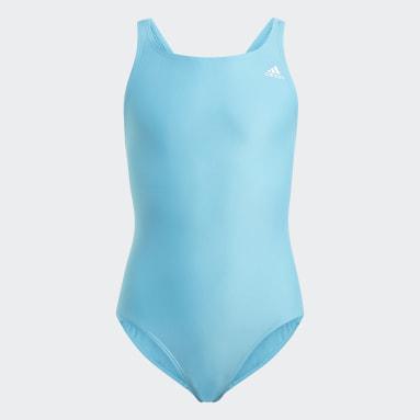 Meisjes Zwemmen Turquoise Solid Fitness Badpak