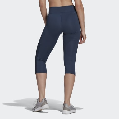 Women's Training Blue adidas x Zoe Saldana AEROREADY 3/4 Tights