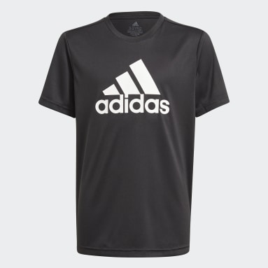 Boys Lifestyle Black adidas Designed To Move Big Logo Tee