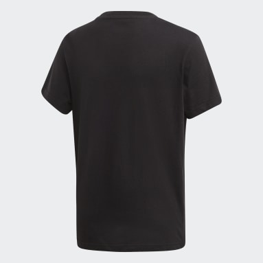 Kids Originals Black Trefoil Tee