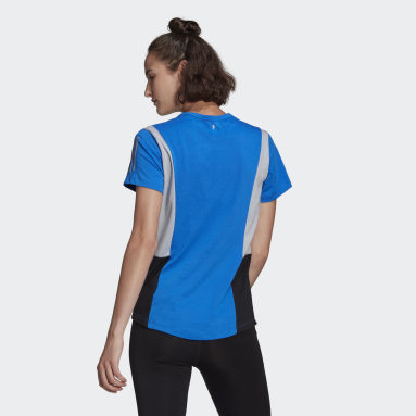 Women Running Blue Run It Space Race Soft Tee
