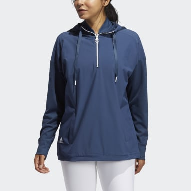 Hoodie Perforated Bleu Femmes Golf