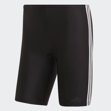 Heren Zwemmen Zwart 3-Stripes Swim Lange Zwembroek