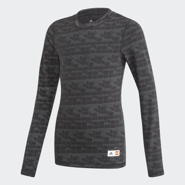 Børn Fitness Og Træning Sort adidas x Classic LEGO® Bricks Long Sleeve Fitted T-shirt