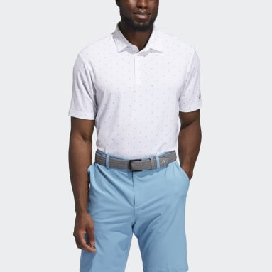 Men Golf White Ultimate365 Printed Polo Shirt
