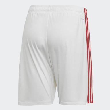 Shorts Uniforme Titular Manchester United Blanco Hombre Fútbol