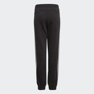 Pantaloni Comfort Colorblock Nero Ragazzo Fitness & Training