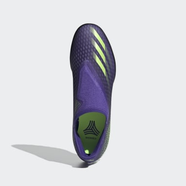 Football Purple X Ghosted.3 Laceless Turf Boots
