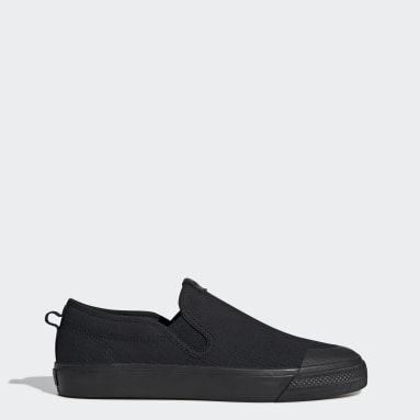 Women Originals Black Nizza Slip-On Shoes