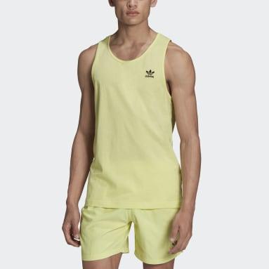 Men Originals Yellow Adicolor Essentials Trefoil Tank Top