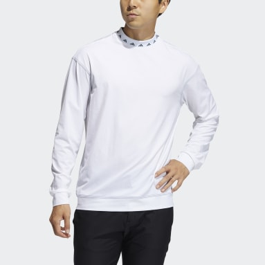 Men Golf White Equipment Wind Crew Sweatshirt