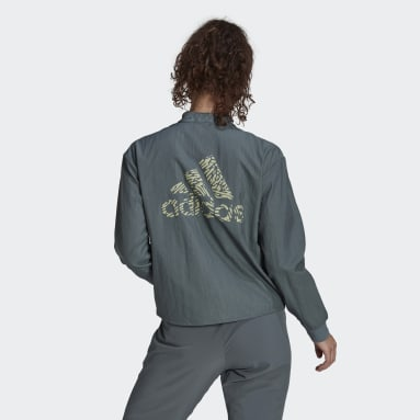 Women's Essentials Blue adidas x Zoe Saldana Track Jacket