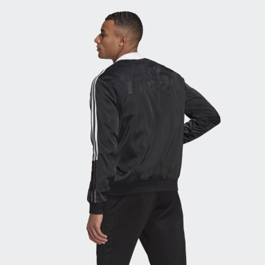Men Cricket Black Tiro Bomber Jacket