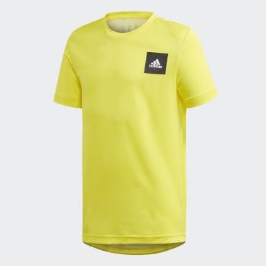 Camiseta AEROREADY Amarelo Meninos Training