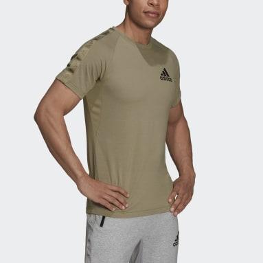 Men's Training Green AEROREADY Designed to Move Sport Motion Logo Tee