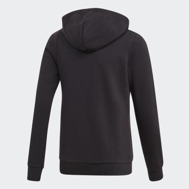 Girls Sportswear Black Linear Hoodie